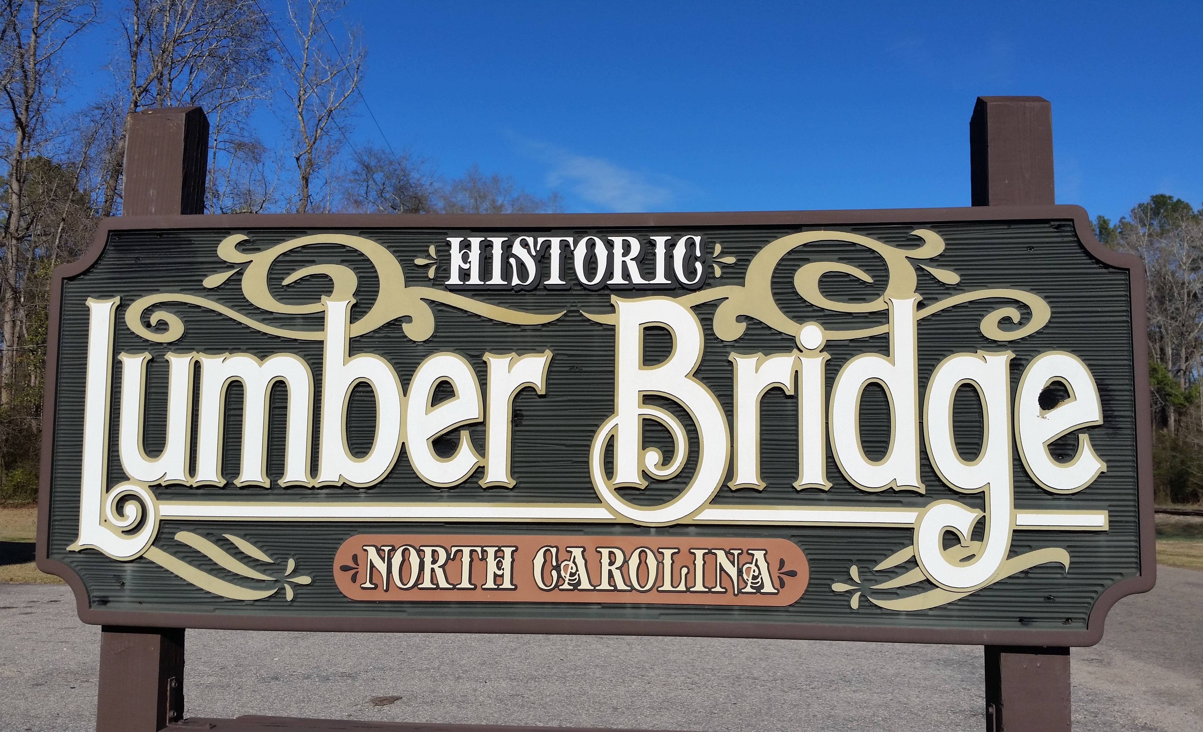 Lumber Bridge Sign